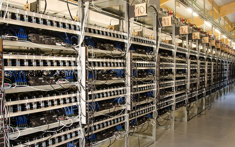 Fábrica de Mineração de Bitcoin