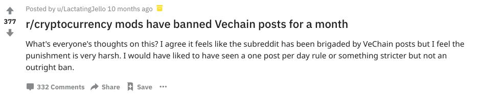 VeChain Reddit