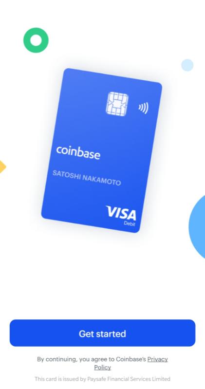 Coinbase card - Cartão Coinbase - App Store e Google Play