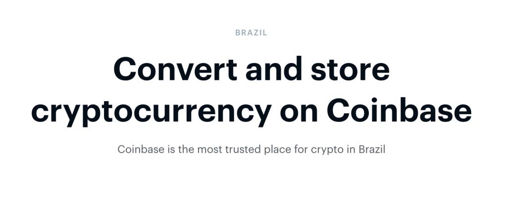 coinbase no brasil