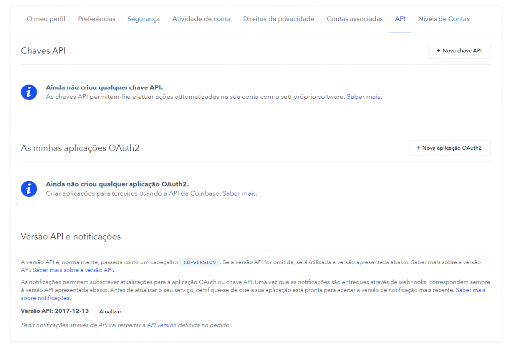 Trading Bots - API da Coinbase