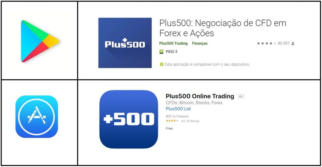 App mobile Plus500