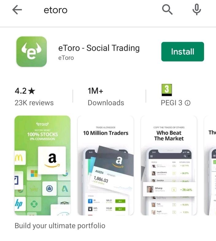 eToro Google Play