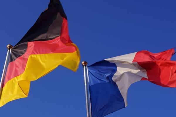 Alemanha França Libra bandeiras