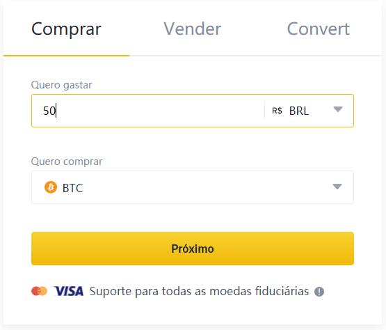 Binance Brasil Comprar Bitcoin