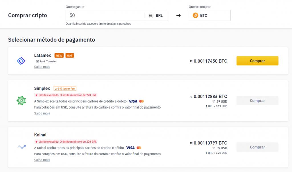Binance Brasil Comprar Bitcoin Cartão