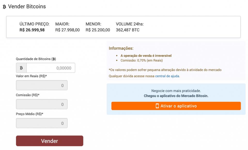 vender bitcoin mercado bitcoin