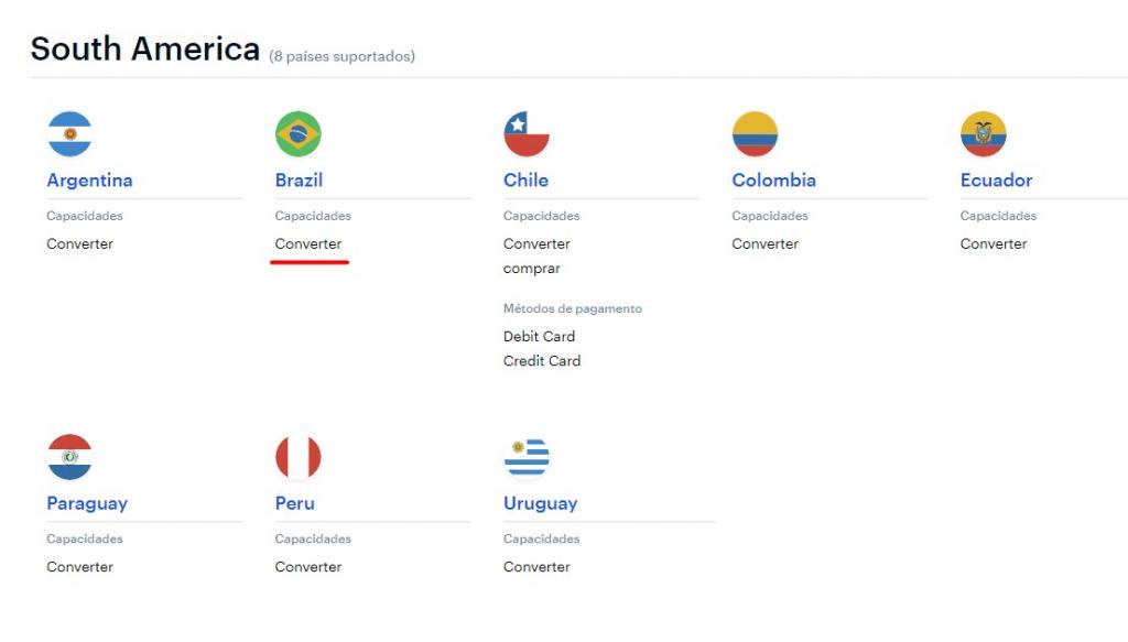 Coinbase serviço Brasil