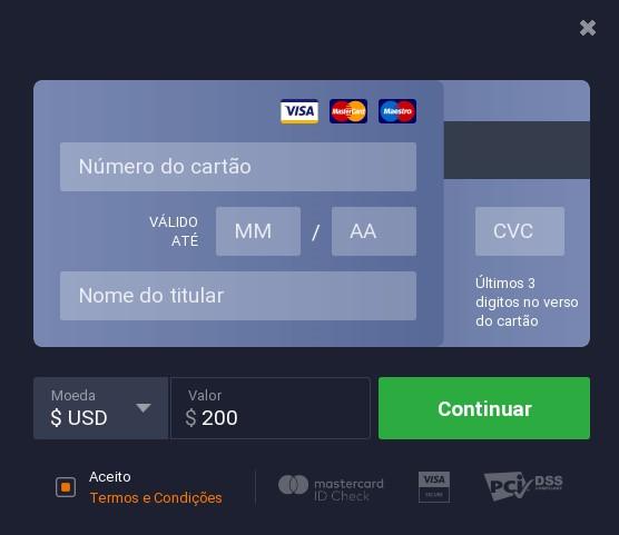 IQ Option Depósito