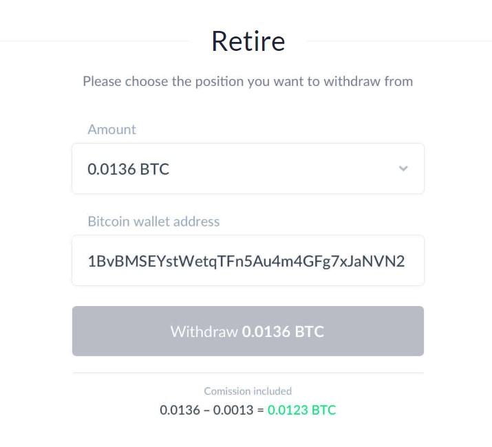 IQ Option retirada bitcoin